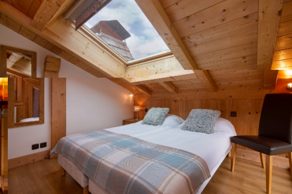 Bright bedroom with roof window
